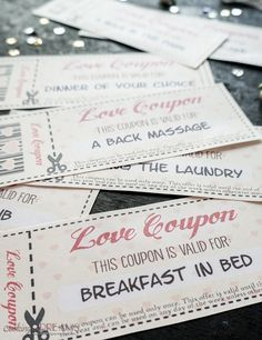 Love coupons – Gift coupons – Gifts for cooks – Valentine day gifts – Coupons – Valentines day Funny Valentine, Homemade Valentines, Printable Valentine, Love Coupons For Him, Coupons For Boyfriend, Valentines Gifts For Boyfriend, Boyfriend Gifts, Valentine Day Gifts, Creative Valentines Day Ideas