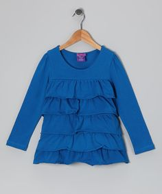 Take a look at this Royal Ruffle Top - Infant, Toddler & Girls by CR Cute on #zulily today!