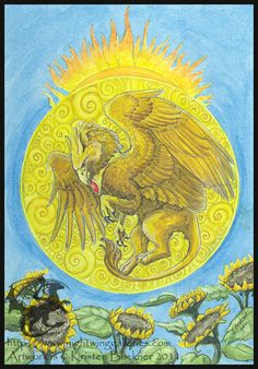 Gryphon Tarot: The Sun by silvermoonnw on DeviantArt