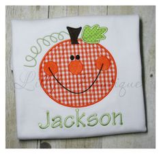 Hey, I found this really awesome Etsy listing at https://www.etsy.com/listing/57036264/happy-pumpkin-applique-t-shirt-or-one