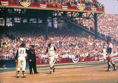 Forbes Field, 1960 World Series Pittsburgh Pirates Baseball, Baseball Park, Pittsburgh Sports, Baseball Players, Baseball Uniforms, Boston Sports, Sports Baseball, Sports Teams, 1960 World Series