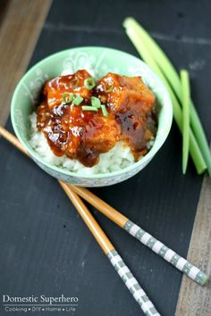 General Tso's Tofu-- this turned out great. I might cut back on the ketchup next time or omit it all together...