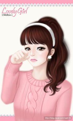 Cartoon Girl Images, Cute Cartoon Girl, Anime Girl Cute, Anime Art Girl, Girly M, Lovely Girl Image, Cute Girl Drawing, Cute Baby Dolls, Cute Girl Wallpaper