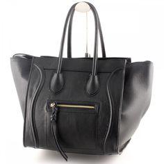 Leder Handtasche Schwarz - Lederwaren: Amazon.de: Schuhe & Handtaschen