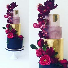 Today I am thrilled to spotlight on Swt Creation, a cake boutique known for unique & vintage cake designs, specializing in handmade Wedding cakes, Tall Wedding Cakes, Wedding Cake Fresh Flowers, Amazing Wedding Cakes, Amazing Cakes, Pretty Cakes, Beautiful Cakes, Bolo Floral, Purple And Gold Wedding, Wedding Cake Designs