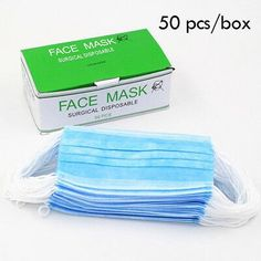 Blue Disposable Medical Dustproof Surgical Face Mask 3 Layer Ear Looped Anti Dust Germ Gauze Masks For Tattoo Supply Beauty Nail Salon, Crochet Mask, Medical Dental, Workplace Safety, Tattoo Supplies, Ear Loop, Good Skin, Stuff To Buy, Ebay