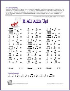 What If? Interval Worksheet | Music Class Printables | Pinterest ...