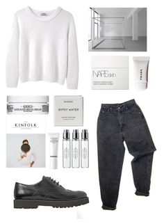 """Sin título #614"" by trendy-outfits ❤ liked on Polyvore featuring Levi's, Acne Studios, NARS Cosmetics, Byredo, Chanel, Hogan and Kiehl's"
