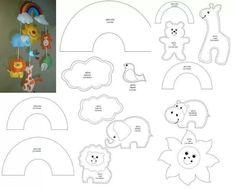 Best 12 Crochet Stitch pattern – Amigurumi Lilo and Stitch crochet pattern – Disney crochet pattern- Crocheted Stuffed Toys for baby – SkillOfKing. Animal Templates, Felt Templates, Felt Crafts Patterns, Felt Mobile, Felt Baby, Felt Dolls, Felt Ornaments, Star Ornament, Baby Crafts
