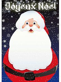 Carte de vœux du joyeux père noël pour passer de bonne fête, à imprimer