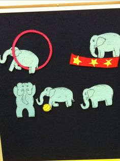 Five Circus Elephants