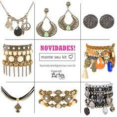 Meninas, chegaram várias novidades lindas de Kits para Montagem em nosso site!!!! Venham conferir!!! :) www.fazendoartebijuterias.com.br