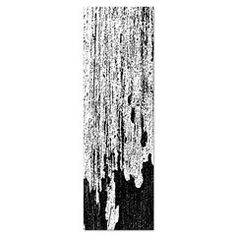 Black And White Aged Grungy Wood Texture Yoga Mat