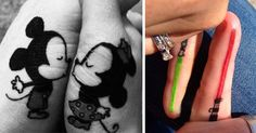 20+ Matching Couple Tattoos For Lovers That Will Grow Old Together | Bored Panda