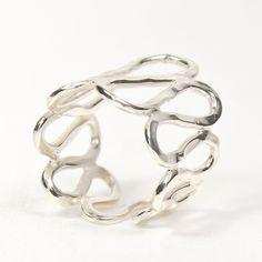 Golven zilver ring . Zilver, handmade.