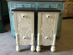 Painted Vanity Side Tables by Vintage Charm and Restoration