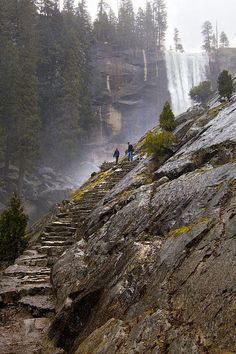 Mist Trail inYosemite National Park, California, United States. I Love Visiting This Place, It Never Gets Old.