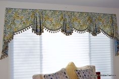 Custom window Valance by McFeely Window Fashions in Millersville, MD. 410-987-2300.