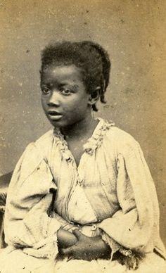 Peru Lima Young Black Lady C1860