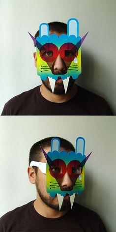 ·paper masks· by Curious Flux, via Behance