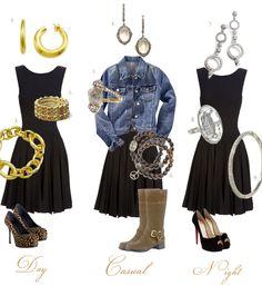 little black dress   Little Black Dress Jewelry   Art Deco   Black & White   Clear