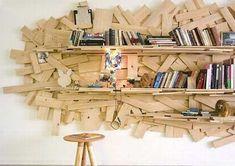 libreria scarti di legno 2