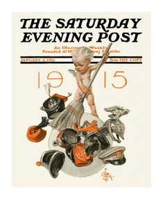 New Year's Baby 1915, The Saturday Evening Post (January 2, 1915) by J.C. Leyendecker