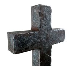 This simple cross is hand painted in a rusty steel faux finish. With gouges and rough edges, it has an industrial grunge feel to it. The size is perfect for small spaces and is very eye-catching. This
