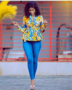 Super Stylish Ankara Tops for Gorgeous Ladies African Fashion Designers, Latest African Fashion Dresses, African Dresses For Women, African Print Dresses, African Print Fashion, African Attire, African Wear, African Women, African Prints