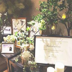 ゲストをおもてなし♡igで見つけたおしゃれなウェルカムスペース11選* Wedding Decorations, Table Decorations, Garden Theme, Wedding Welcome, Display, Bridal, Space, Weddings, Floor Space