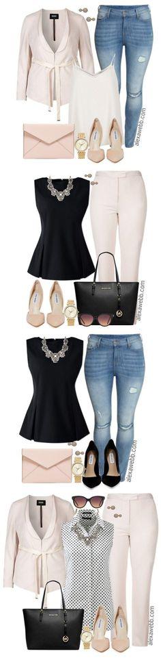 Plus Size Mini Capsule Wardrobe - Plus Size Fashion for Women - Alexawebb.com #alexawebb