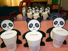 Panda Kumbara – Finance tips, saving money, budgeting planner Farm Activities, Preschool Themes, Preschool Crafts, Piggy Bank Craft, Projects For Kids, Crafts For Kids, Panda Craft, Paper Animals, Class Decoration