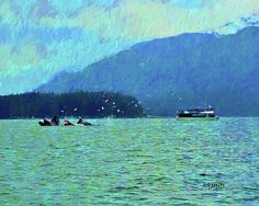 Humpback Whales Bubble Net Fishing Juneau Alaska Digital Art by Rebecca Korpita