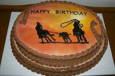 Team Roper Cake – Tim's bday – Gateau – Cake – Recipes Western Birthday Cakes, Western Cakes, Cowgirl Birthday, Birthday Cakes For Men, 12 Year Old Birthday Party Ideas, Horse Birthday Parties, 70th Birthday, Happy Birthday, Cowgirl Cakes