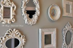 use craft mirrors to transform empty frames into mirrors
