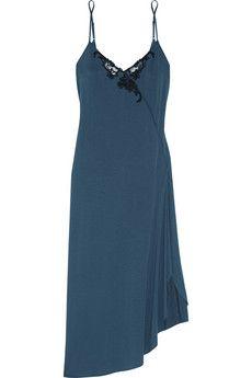 La Perla Primula lace-trimmed stretch-modal jersey nightdress | NET-A-PORTER