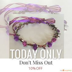 Today Only! 10% OFF this item.  Follow us on Pinterest to be the first to see our exciting Daily Deals. Today's Product: pink & purple floral crown, floral halo, floral headband, wedding gift, bride, bridesmaid, flowergirl, birthdays, for all occasions Buy now: https://www.etsy.com/listing/216768654?utm_source=Pinterest&utm_medium=Orangetwig_Marketing&utm_campaign=Summer_sale   #etsy #etsyseller #etsyshop #etsylove #etsyfinds #etsygifts #musthave #loveit #instacool #shop #shopping…