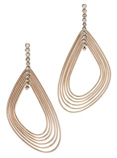 H.Stern Iris earrings in rose and noble gold with diamonds.