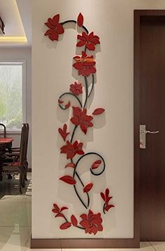 3D Wallpaper For Living Room Wall Painting Flowers, Tree Wall Painting, Wall Painting Living Room, 3d Wallpaper Living Room, Tree Wall Murals, Wall Painting For Hall, Flower Mural, Flower Wall, Flower Diy
