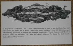 The Haunted Tea-Cosy by Edward Gorey