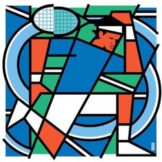 網球與插畫 - Tennis x illustration: Tripping up Roger Federer by Bob Kessel Tennis Posters, Tennis Photography, Tennis Bags, Tennis Serve, Tennis Lessons, Wimbledon Tennis, Tennis Shirts, Sports Art, Roger Federer