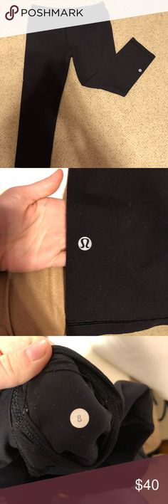 Lululemon Astro Crop Leggings Astro crop leggings is fantastic condition Black color Size 8 They have lulu reflector symbol on the bottom of the leg  Feel free to ask me any questions you may have about this product😊 lululemon athletica Pants Leggings