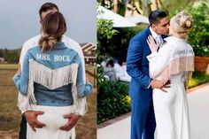 Rock Paper Scissors Denim is known for the original rhinestone fringed jean jacket! It was perfect before, but even more so when you pair it with your wedding dress! This jean jacket is fit for a Mrs. Cowgirl Wedding, Rock Paper Scissors, Denim, Wedding Dresses, Fitness, Jackets, Bride Dresses, Down Jackets, Bridal Gowns
