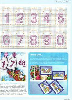 advent calendar santa sleigh number chart