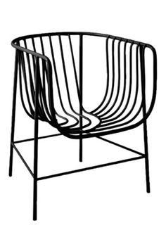 Cappellini 'Sekitei' chair by Nendo, from Cult  A shapely form in powdercoated steel wire, this chair has a beautiful asymmetrical pattern to the metal work. It's available in Black or White.