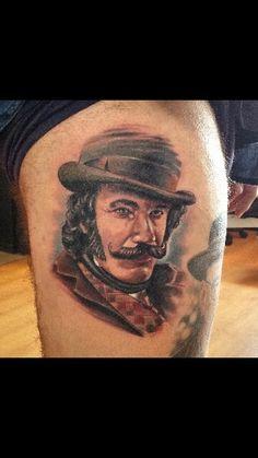 Portrait tattoo Billi il macellaio  Www.16thballtattoo.com