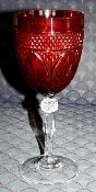 Cristal D'Arques Durand Antique Ruby Water Goblets
