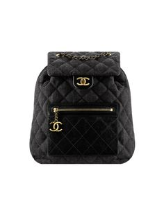 d55f6a68117f Chanel Black Denim and Calfskin Backpack Bag  Chanelhandbags Chanel Backpack