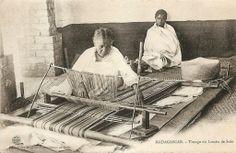 Tissage du lamba de soie