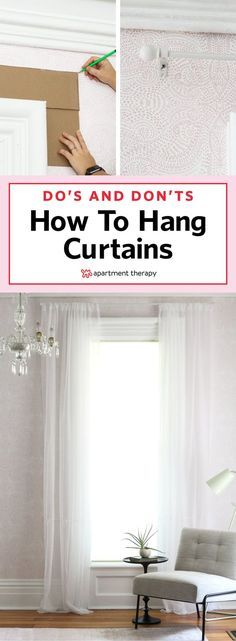 Dos and Donts of Hanging Curtains Curtains complete a room They help control the light lend privacy and warmth affirm your style and add texture and color Maximize their. Privacy Curtains, Hanging Curtains, Diy Curtains, How To Hang Curtains, Window Privacy, Fabric Blinds, Sheer Curtains, Sheer Blinds, Bathroom Curtains